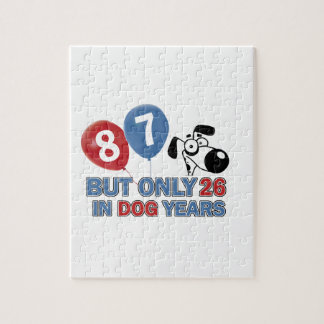 Funny dog years 87 year old designs puzzle
