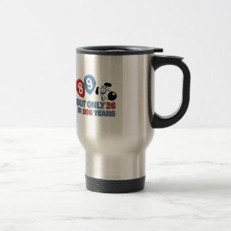 Funny dog years 89 year old designs travel mug