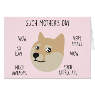 "Funny ""Doge"" Meme Mother's Day Card"