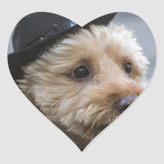 funny doggie cowboy gifts heart sticker