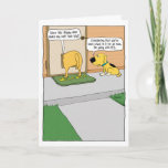 "Funny Doggy Door Birthday Card<br><div class=""desc"">This funny birthday card proves that even dogs wonder whether their butts look big,  and in many cases they are right to wonder. &#169;2015 Chuck Ingwersen</div>"