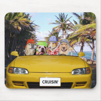 Funny Dogs Cruisin' Mouse Pad