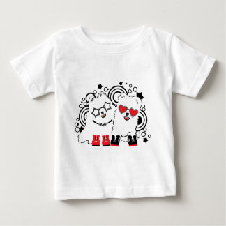 Funny dogs. Cute animal festive cool design Baby T-Shirt