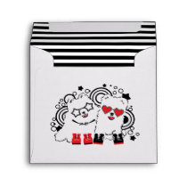 Funny dogs. Cute animal festive cool design Envelope
