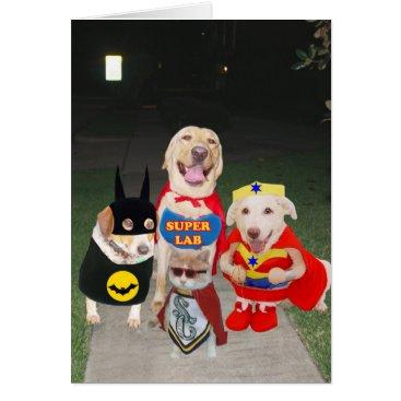 Halloween Themed Funny Dogs Halloween Card
