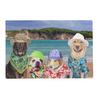 Funny Dogs/Lab on the Beach Placemat