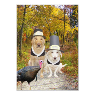 Funny Dogs/Labs Thanksgiving Invitation