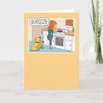 Funny Dogs Love Bacon Birthday Card