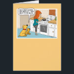 """Funny Dogs Love Bacon Birthday Card<br><div class=""""desc"""">Here&#39;s a funny birthday card that features two dogs who envy humans&#39; ability to fry bacon. The perfect card for anyone who loves dogs ...  and bacon! From the creator of popular webcomic Captain Scratchy. &#169;2015 Chuck Ingwersen</div>"""