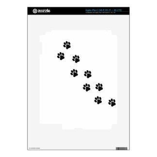 Funny dog's paw  print decals for iPad 3