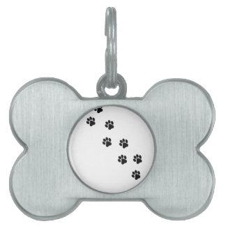 Funny dog's paw  print pet name tag