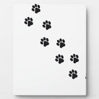 Funny dog's paw  print plaque