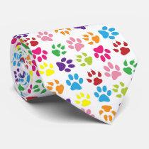 Funny dog's paw Tie