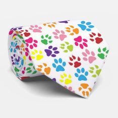 Funny Dog's Paw Tie at Zazzle