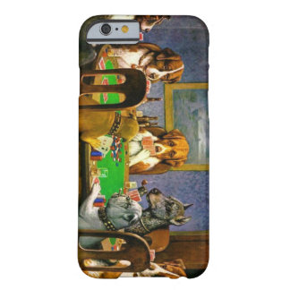 Funny Dogs Playing Poker Case Barely There iPhone 6 Case