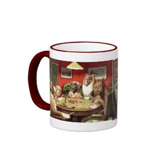 Funny Dogs Playing Poker Coffee Mug Mugs