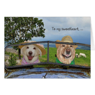 Funny Dogs Valentine for Sweetheart Card