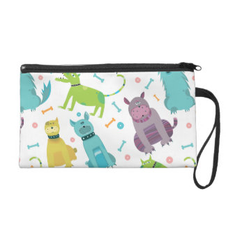 Funny dogs wristlet