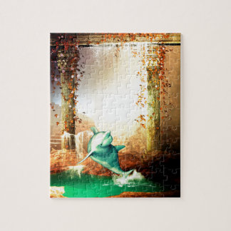 Funny dolphin jigsaw puzzle