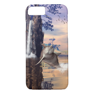 Funny dolphin jumping in a fantasy land iPhone 8/7 case