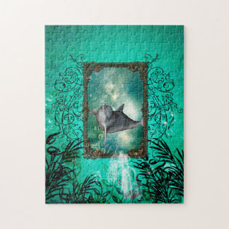 Funny dolphin jumping jigsaw puzzle