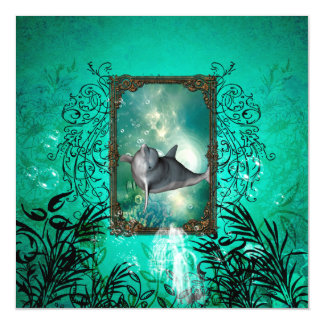 Funny dolphin jumping magnetic card