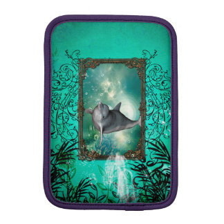 Funny dolphin jumping out of a frame iPad mini sleeve