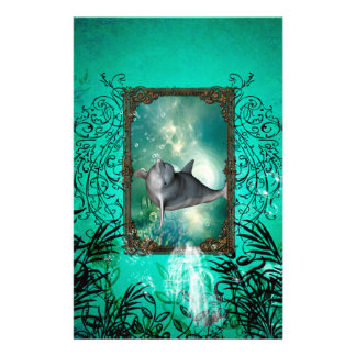 Funny dolphin jumping stationery