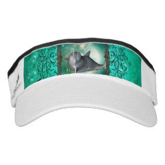 Funny dolphin jumping visor