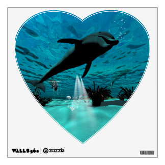 Funny dolphin room stickers