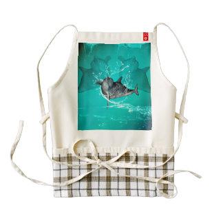 Funny dolphin zazzle HEART apron