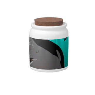 Funny dolphins candy dish