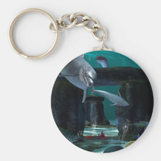 Funny dolphins key chains