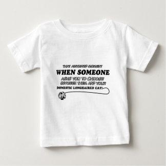 funny DOMESTIC LONGHAIRED CAT degsins T Shirt