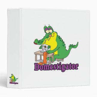 funny domesticated alligator gator vinyl binders