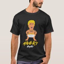 Funny Donald Trump Angry Baby American T-Shirt