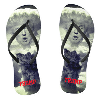 Funny Donald Trump as Nuclear Explosion Flip Flops