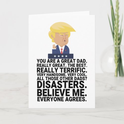 Funny Donald Trump Fathers Day Card