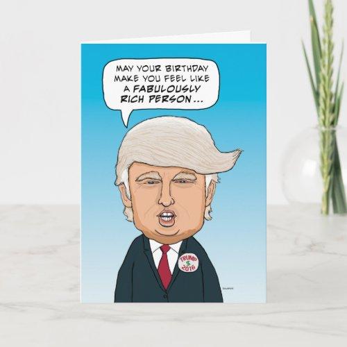 Funny Donald Trump Hairy Birthday Card