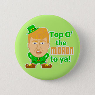 Funny Donald Trump Leprechaun St Patricks 2016 Button