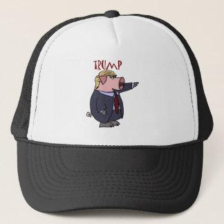 Funny Donald Trump Pig Political Cartoon Trucker Hat