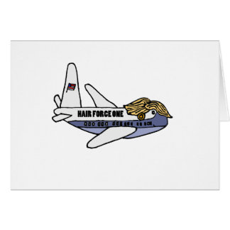 Funny Donald Trump Presidential Airplane Card