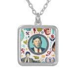 funny donald trump square pendant necklace