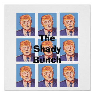 Funny Donald Trump The Shady Bunch Poster