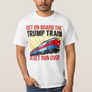 Funny Donald Trump Train or get Run Over T-Shirt