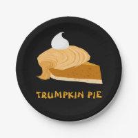 Funny Donald Trump Trumpkin Pie Paper Plate