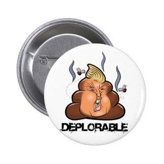 Funny Donald Trump - Trumpy-Poo Poo Emoji Icon Button