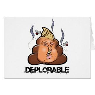 Funny Donald Trump - Trumpy-Poo Poo Emoji Icon Card
