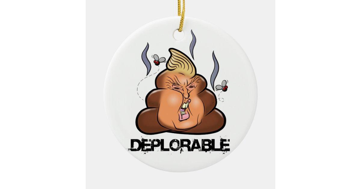 Funny Donald Trump Trumpy Poo Poo Emoji Icon Ceramic