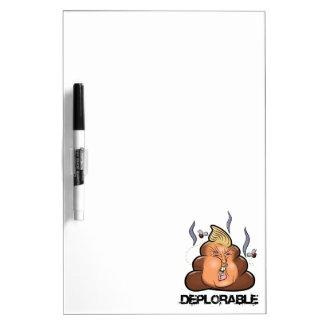 Funny Donald Trump - Trumpy-Poo Poo Emoji Icon Dry-Erase Board